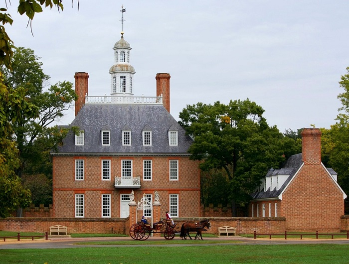 Governor's Palace at Colonial Williamsburg in Virginia