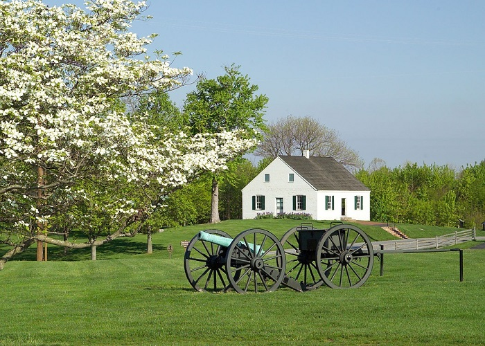 Dunker Church at Antietam Battlefield in Maryland
