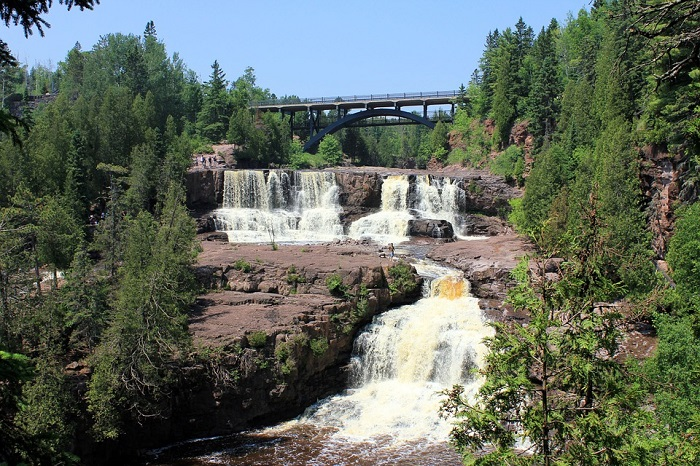 Gooseberry Falls State Park on the north shore of Lake Superior